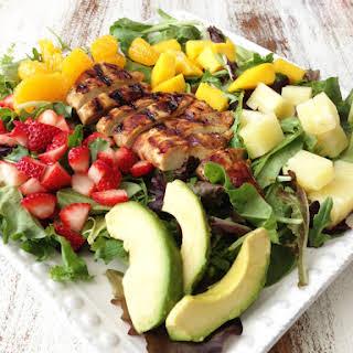 Tropical Chicken Salad & Honey Balsamic Vinaigrette.