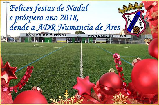 Felices festas de Nadal e próspero ano 2018, dende a ADR Numancia de Ares.
