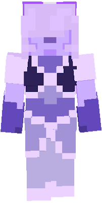So, if you saw this poll[https://www.planetminecraft.com/forums/discussions/creations/which-of-these-gemsonas-should-i-583458/], You'll know that Lavender Sapphire was the most voted character to have a minecraft skin made of them. So, I am now working on one! :D