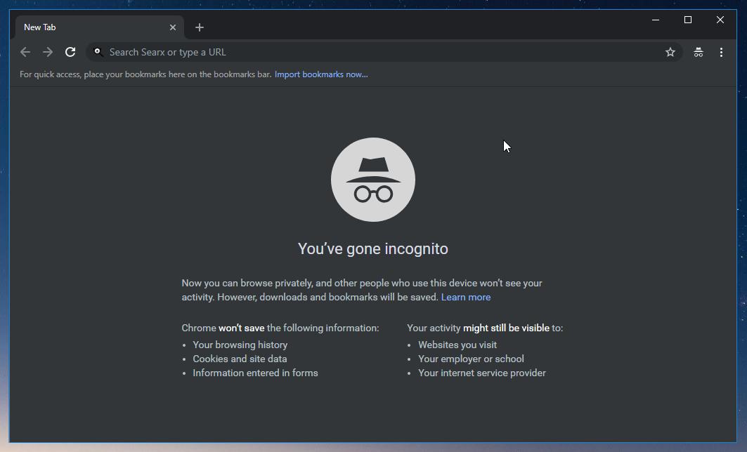 thumbapps.org UnGoogled Chromium portable, Incognito tab