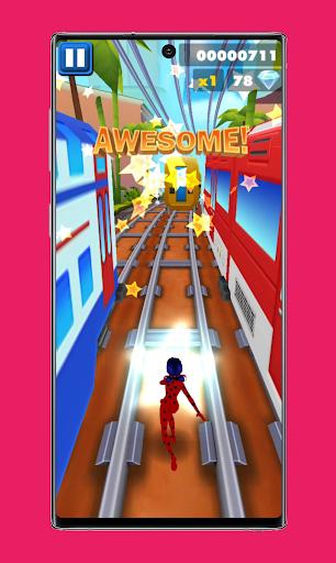 subway Lady Endless jump V3: cat runner noir jogos apktram screenshots 7