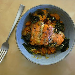 Slow Cooked Salmon with Lentils