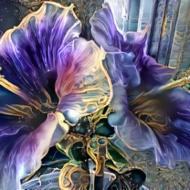 Hibiscus abstract by Cassy 67 - Digital Art Abstract ( digital, love, harmony, flowers, abstract art, photoshop art, photomanipulation, abstract, deep dream generator, digital art, modern, light, hibiscus, photography, energy )