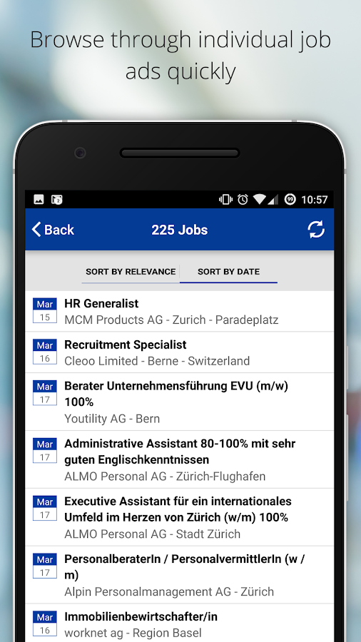 jobs.ch - Jobs in Switzerland- screenshot