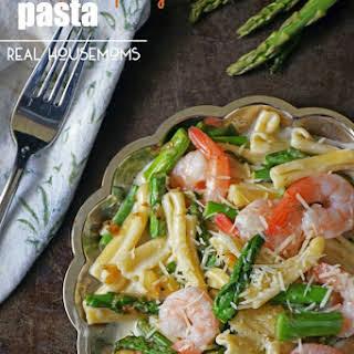 Shrimp and Asparagus Pasta.