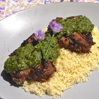 Moroccan Lamb Chops with Chermoula Sauce.