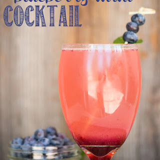 Blueberry Mint Cocktail.