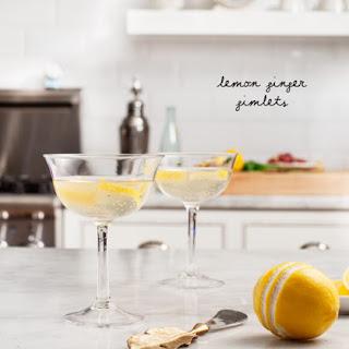 Lemon Ginger Gimlets