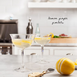 Lemon Ginger Gimlets.