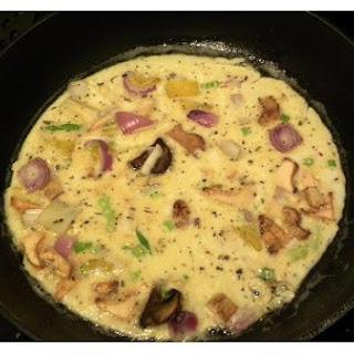 Onion-Mushroom Omelette