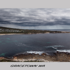 Gracetown WA by Greg Tennant - Landscapes Travel ( panorama, ocean, rocks, houses, australia, aerial, travel )