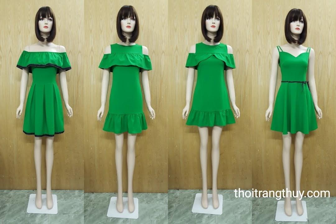 Váy hở vai xuân hè - Váy suông và váy xòe hai dây V514 tại Hải Phòng