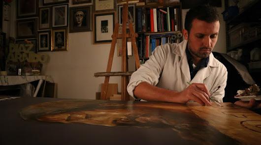 Antonio Díaz Arnido, autor del cartel de la Semana Santa de 2021.