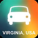 Virginia, USA GPS Navigation icon