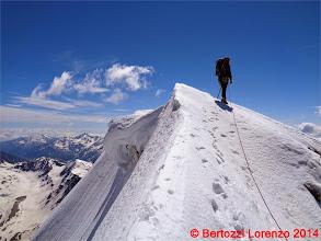 Photo: Lor_DSC00173 io sulla cresta nevosa della Suldengrat