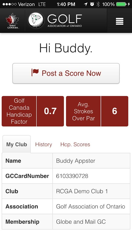 Golf Canada- screenshot
