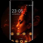 Fire Hot Diva Theme for Vivo V5 HD Wallpaper Icon
