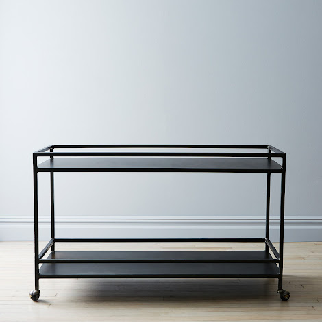 Blackened Steel Bar Cart