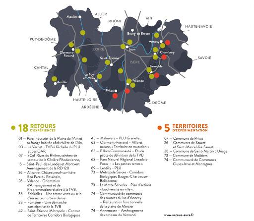 carte des expérimentations