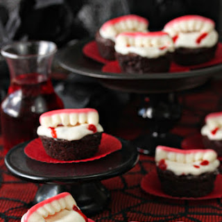 Vampire Bite Brownies Halloween