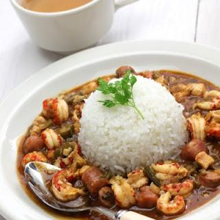 Jambalaya-Style Shrimp & Sausage Crockpot
