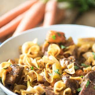 Instant Pot Beef Stew Pasta.