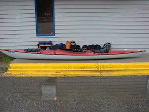 Photo: My kayak and all the gear ready to be loaded on the ferry.