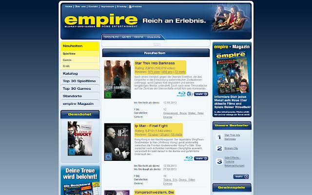 empire imdb extension