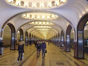 Photo: Jedno z těch architektonicky lepších stanic metra v Moskvě.