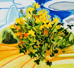 """Photo: Birdsfoot Trefoil Drawing, pencil and acrylic on mylar, 22"""" x 24"""", 2014, Private Collection"""