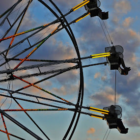 Ferris Wheel Silhouette  by Susan Grefe - Transportation Other