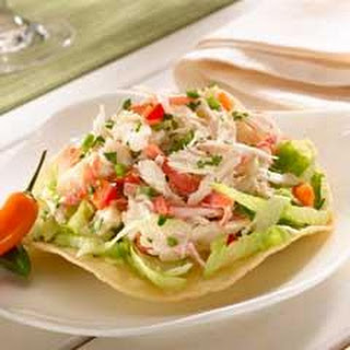 Tostadas with Crabmeat Salad Recipe