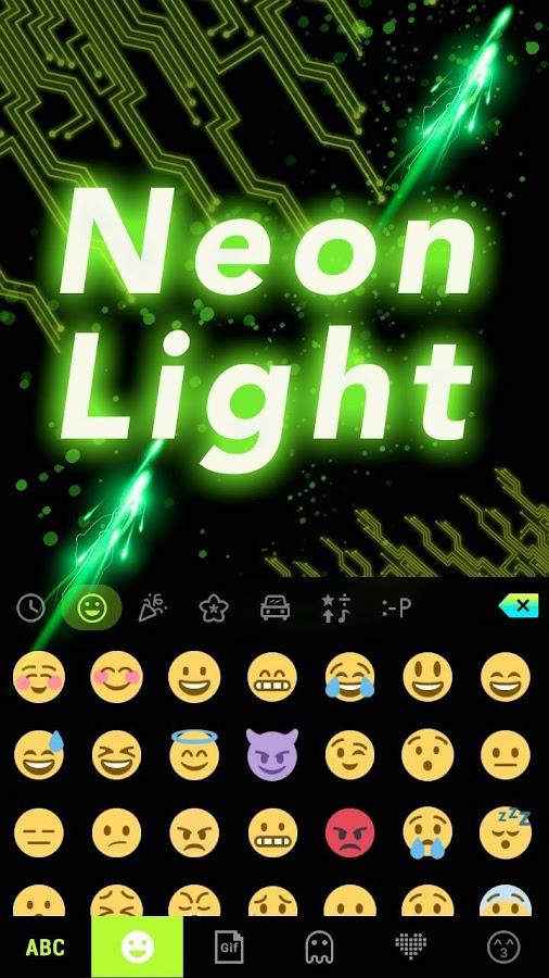 Neon-Light-Emoji-Kika-Keyboard 10