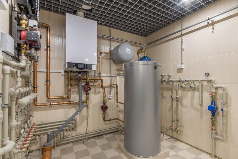 Kocioł gazowy zainstalowany w kotłowni