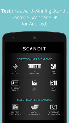 Scandit Barcode Scanner Demo Screenshot