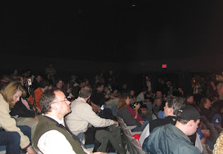 Photo: Crowd in the Blast Off Theatre... check out all them Tweeters!