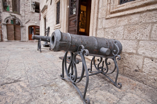 Ornamental cannons outside a museum in Old Kotor, Montenegro.