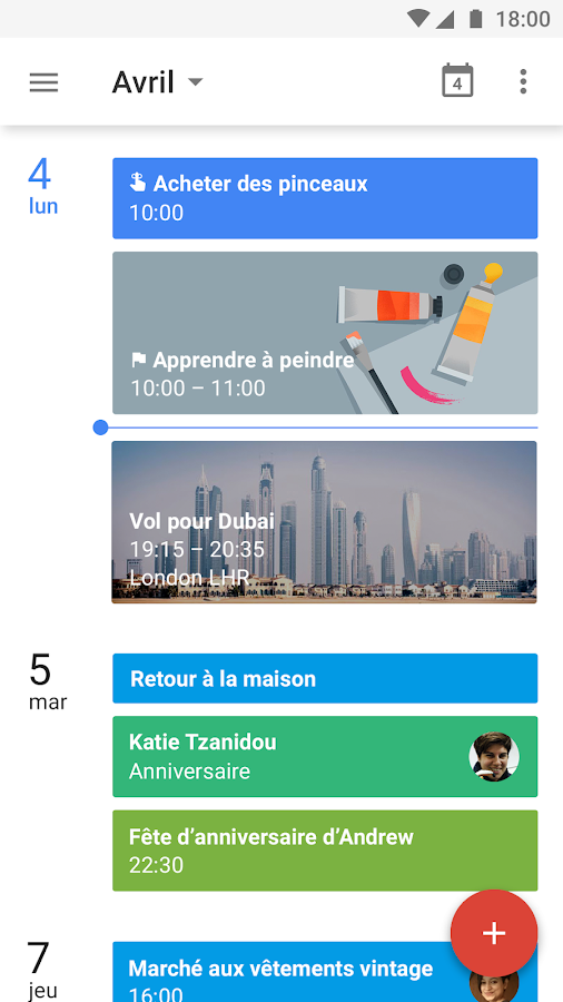Google Agenda – Capture d'écran