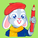 Binky - Coloring pages for kids, free drawing game icon
