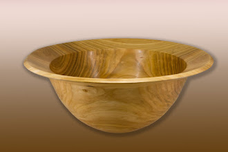 "Photo: Bob Grudberg 19"" x 8"" bowl [cherry]"