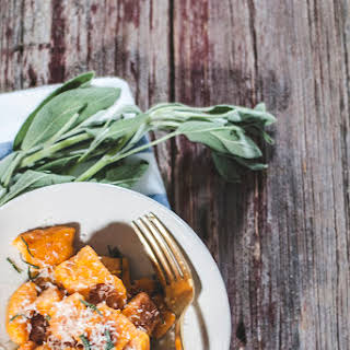 Carrot Gnocchi with Browned Butter Sage Sauce.