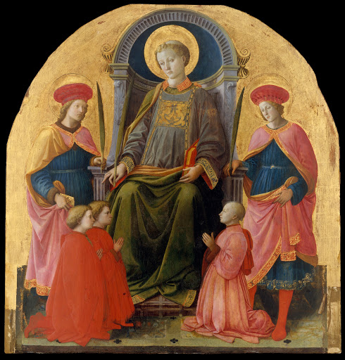 Saint Lawrence Enthroned with Saints and Donors