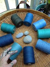 Photo: cotton weaving yarn sets