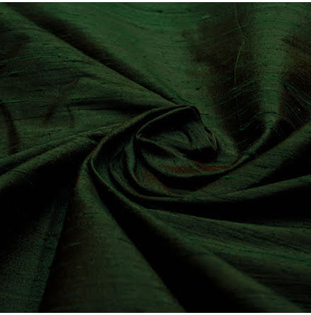 Dupion - grön/brun