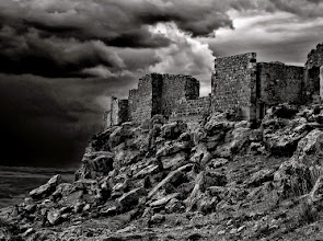 Photo: Storm over Gormaz This was taken on a stormy afternoon in the ruins of Gormaz castle, standing over the Castillian planes, in Spain.