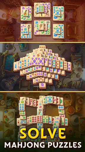 Pyramid of Mahjong: A tile matching city puzzle apkdebit screenshots 3