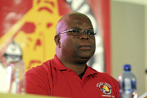 National Union of Mineworkers president Piet Matosa. The union is holding its national congress in Boksburg. /PETER MOGAKI