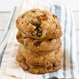 Coconut Oil Chocolate Chip & Cranberry Cookies.