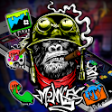 Monkey Graffiti Theme icon