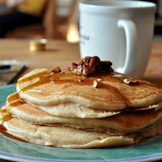 Whole Grain Banana Nut Pancakes.